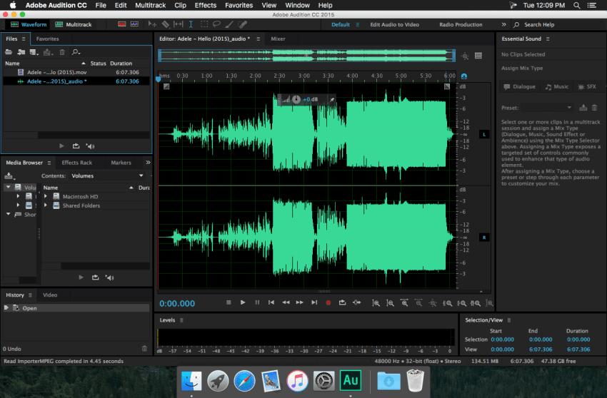 Adobe Audition Editor