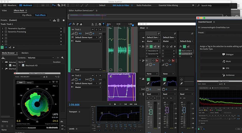 Adobe Audition Interface