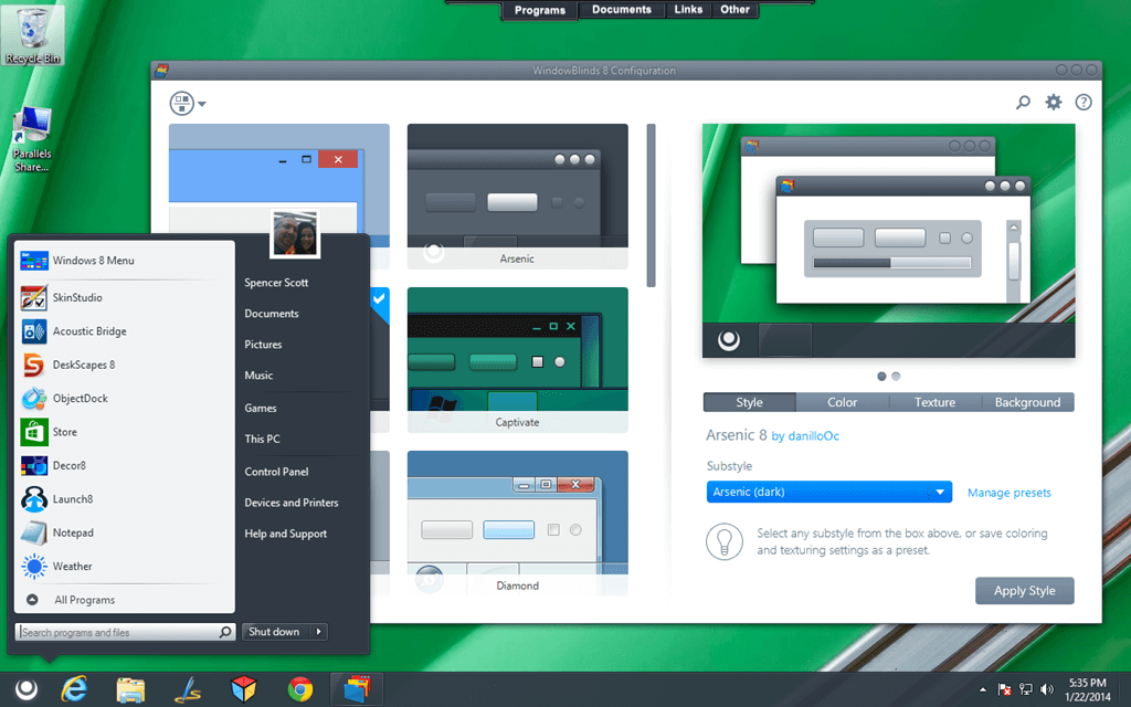 Windowblinds Interface