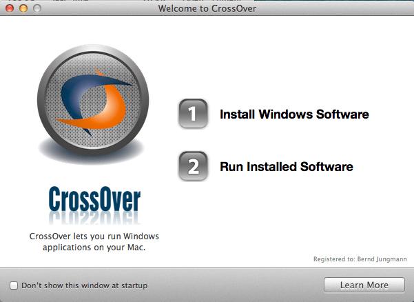 Crossover Linux Installation