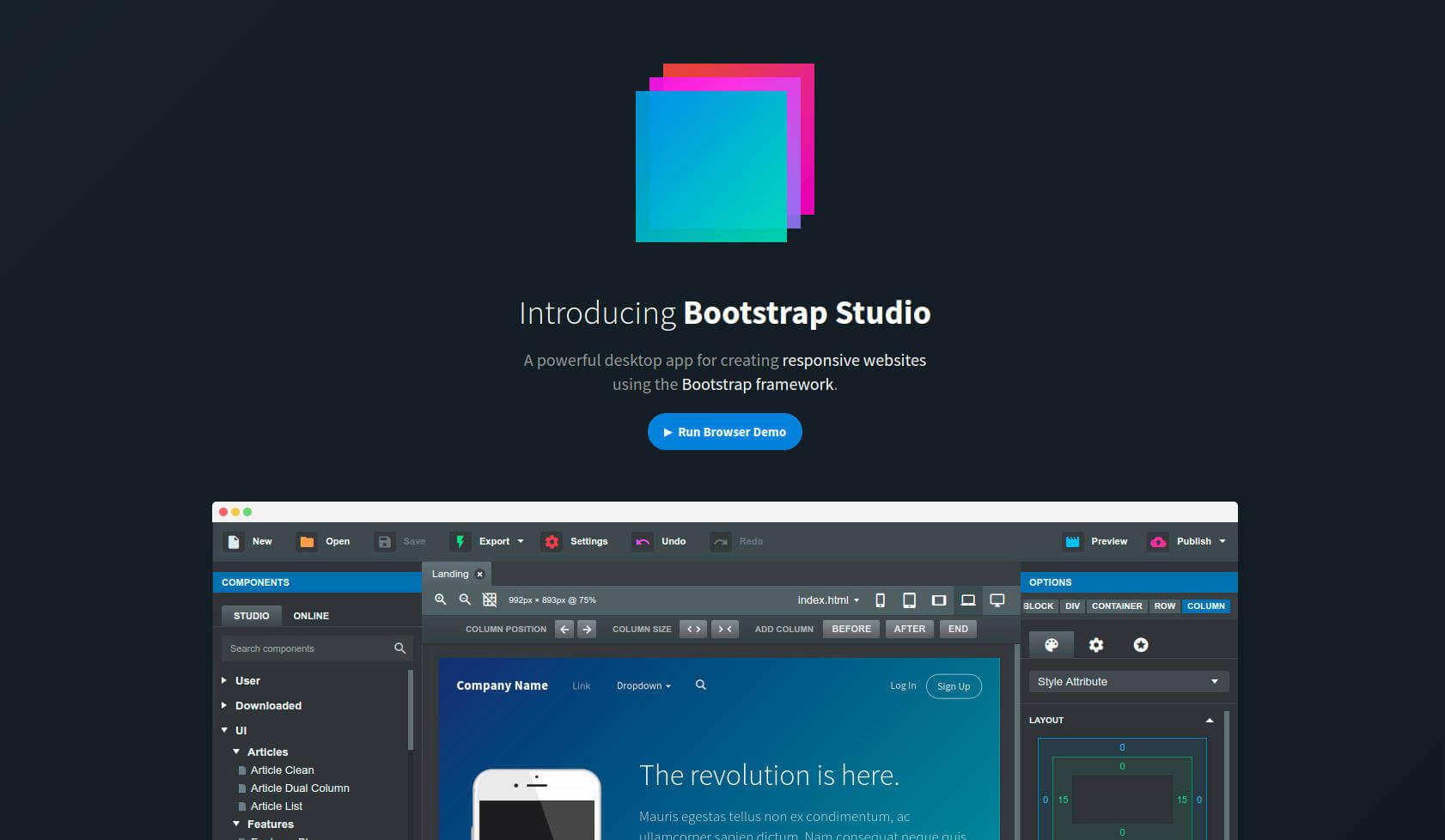 Bootstrap Studio 4 Alternative