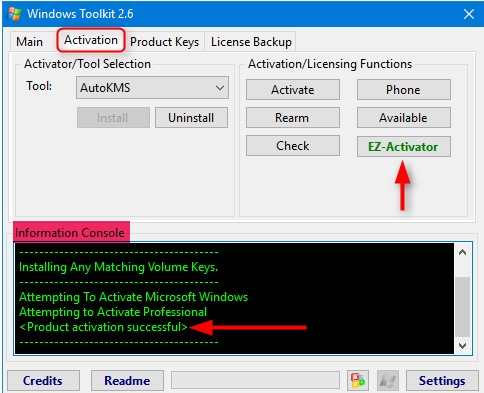 Microsoft Toolkit 2.6.7 Activator for Windows 10 & Office